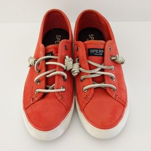 Women's Sperry Sneakers Coral Color Size 6.5M